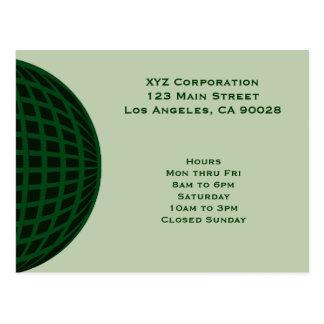 Green Global Business Postcard