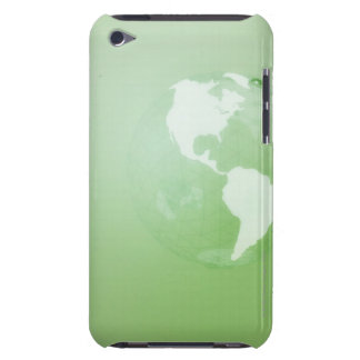 Green Globe Barely There iPod Covers