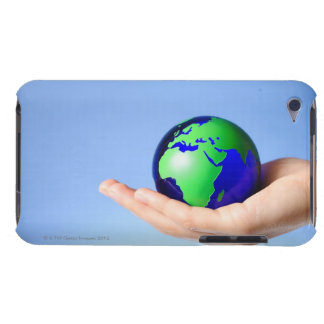 Green globe in hand iPod touch case