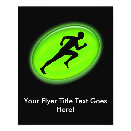 Green Glow Fitness and Personal Training Logo Flyer