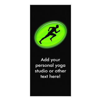 Green Glow Fitness and Personal Training Logo Rack Card Template