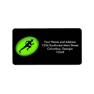 Green Glow Fitness Logo Address Label