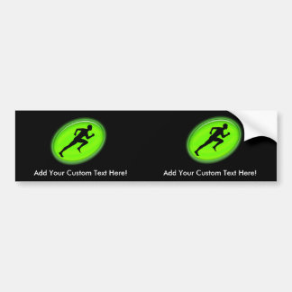 Green Glow Fitness Logo Car Bumper Sticker