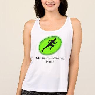 Green Glow Fitness Logo Custom Gym Tank Top