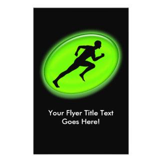Green Glow Fitness Logo Flyers