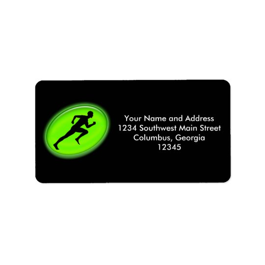 Green Glow Fitness Logo Label