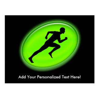 Green Glow Fitness Logo Postcard