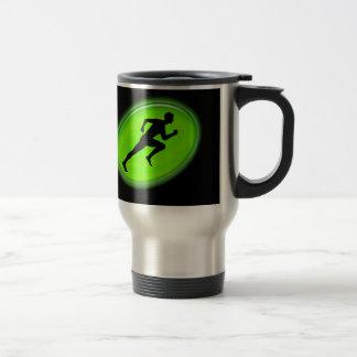 Green Glow Fitness Logo Stainless Steel Travel Mug