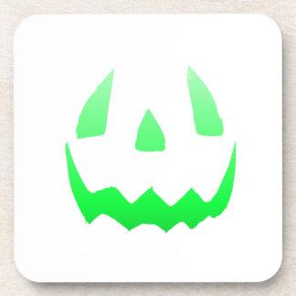 Green Glow Happy Halloween Coasters