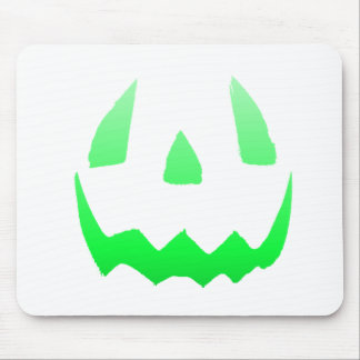 Green Glow Happy Halloween Mouse Pad