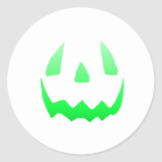 Green Glow Happy Halloween Classic Round Sticker