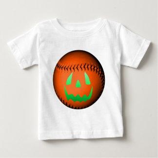 Green Glow Jack O' Lantern Baseball Shirts