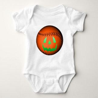 Green Glow Jack O' Lantern Baseball Tshirts