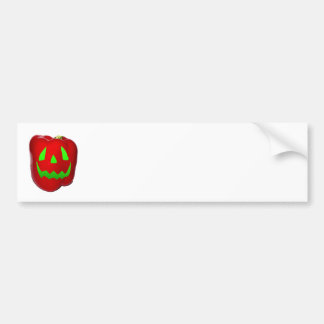 Green Glow Red Bell Peppolantern Bumper Sticker