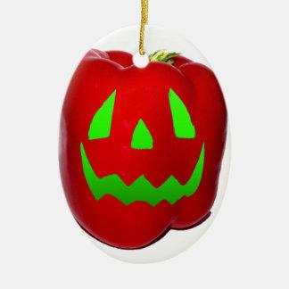 Green Glow Red Bell Peppolantern Christmas Ornament