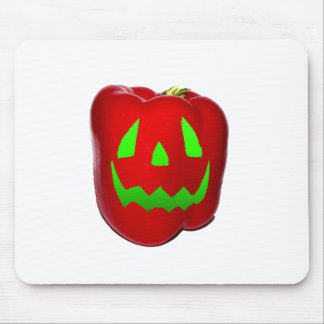 Green Glow Red Bell Peppolantern Mouse Pad