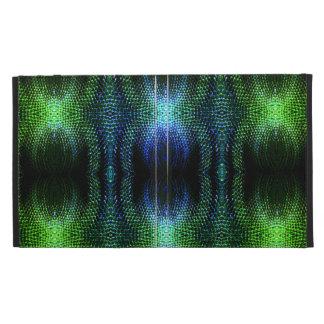 Green Glow Snake Skin iPad Cases