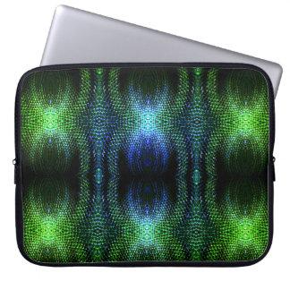 Green Glow Snake Skin Computer Sleeve