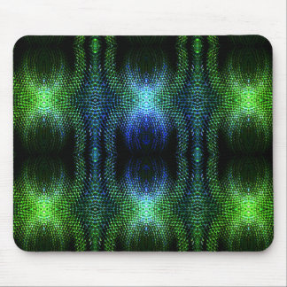 Green Glow Snake Skin Mouse Pad