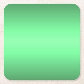Green Glow Square Paper Coaster