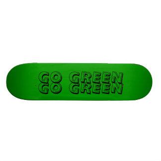 green GO GREEN GO GREEN Skateboard Deck