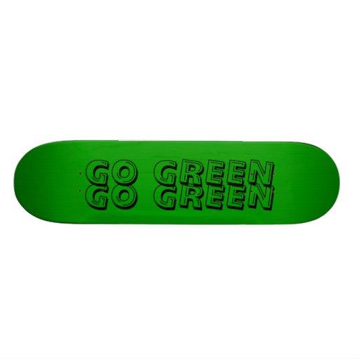 green, GO GREEN, GO GREEN Skateboard Deck