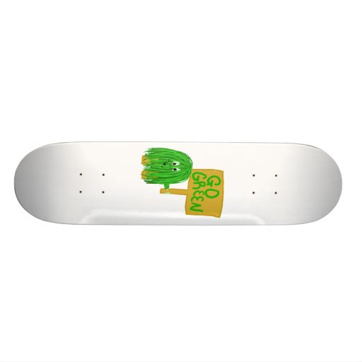 green go green skateboard