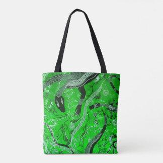 Green Goanna Dreaming Tote Bag