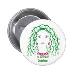 Green Goddess Pin for supporting green ideals