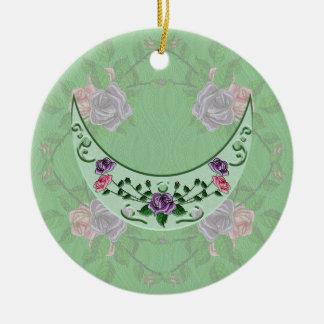 Green Goddess Upright Crescent Christmas Ornament