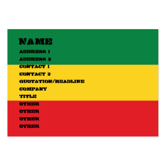 Green, Gold and Red Flag Pack Of Chubby Business Cards