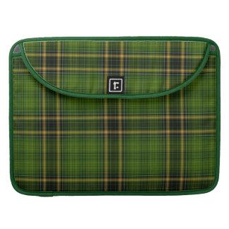 Green Gold Black Tartan Plaid Large Pattern Sleeve For MacBook Pro