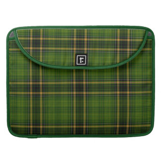 Green Gold Black Tartan Plaid Large Pattern Sleeve For MacBooks