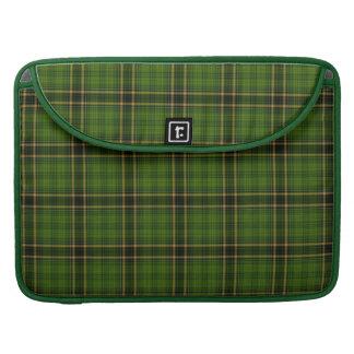 Green Gold Black Tartan Plaid Small Pattern Sleeves For MacBook Pro