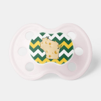 Green Gold Football Colors Wisconsin Pacifier