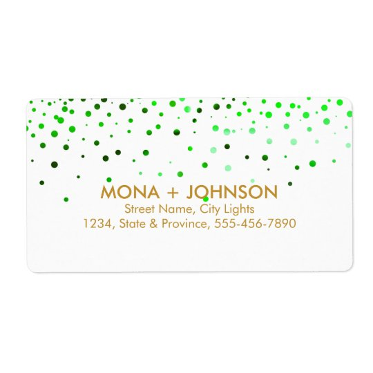 Green Gold Glitter Sparkle Confetti Dots Modern