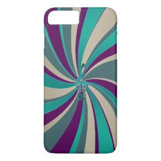 Green Gold Music Clef Swirl iPhone 7 Plus Case