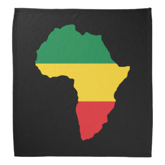 Green, Gold & Red Africa Flag Bandana