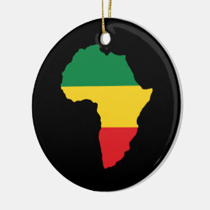 green gold red africa flag christmas ornament