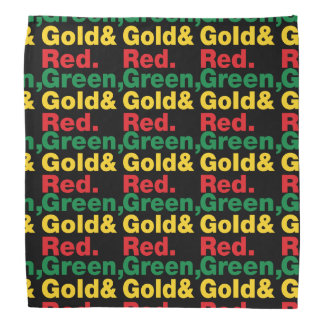 Green, Gold & Red. Bandana