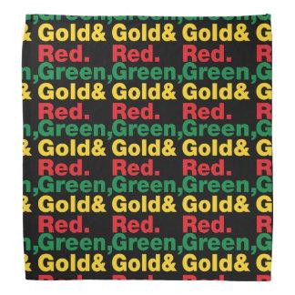 Green, Gold & Red. Do-rag