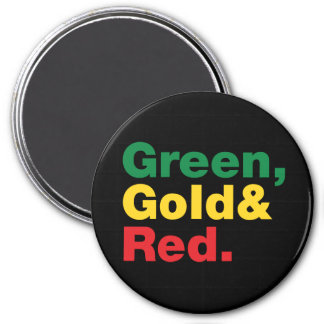 Green, Gold & Red. Magnet