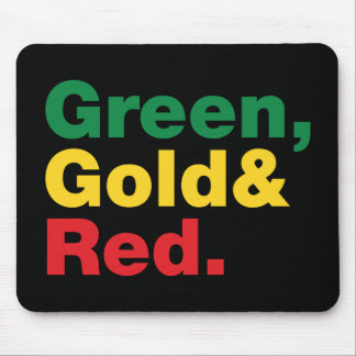 Green, Gold & Red. Mouse Pad