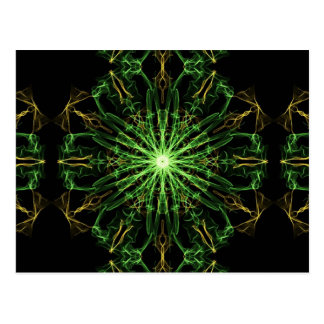 Green & Gold Silk Starburst Postcard