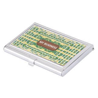 Green gold Star Line business cards holder
