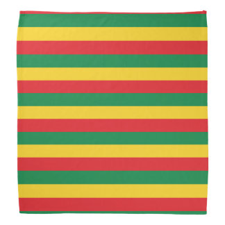 Green, Gold (Yellow) and Red Colors Flag Bandana