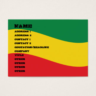 Green, Gold (Yellow) and Red Colors Flag Business Card