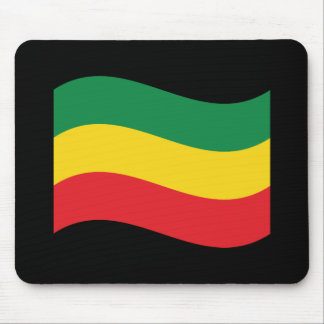 Green, Gold (Yellow) and Red Colors Flag Mouse Pad