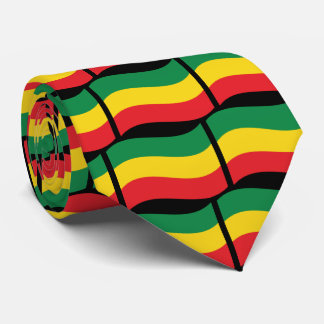 Green, Gold (Yellow) and Red Colors Flag Tie