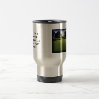 Green Golf Course at Dawn 15 Oz Stainless Steel Travel Mug